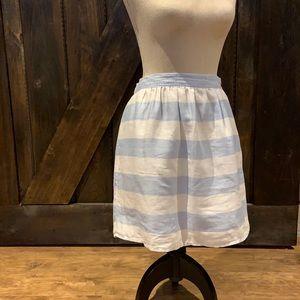 Kenar linen striped skirt with pockets